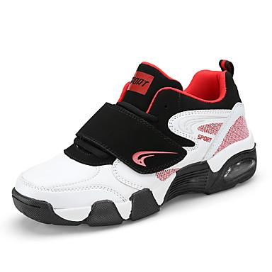 בגדי ריקוד גברים נעלי נוחות קנבס קיץ / אביב קיץ ספורטיבי / יום יומי נעלי אתלטיקה ללא החלקה שחור לבן / שחור אדום / שחור / כחול