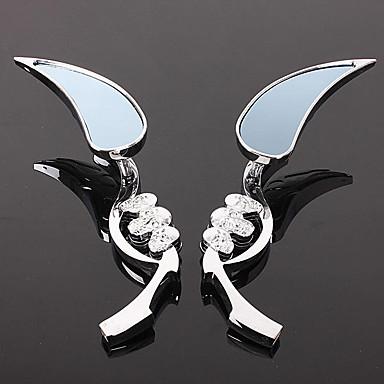 billige Rear View Monitor-sølv motorsykkel speil bakspeil tårnhode hodeskalle design