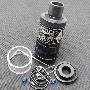 מיכל rdta ללא גבולות בתוספת ss 6.3ml 25mm קוטר - שחור 2 * 18650