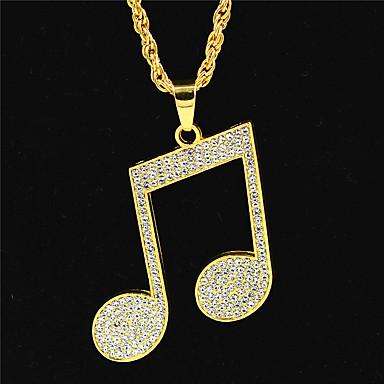 levne Pánské šperky-Pánské Dámské Zlatá Řetízky Prohlášení Náhrdelníky dlouhý náhrdelník Vícevrstvé Totemová řada Face Prohlášení Punk Moderní Rokové Pozlaceno 18k Zirkon Chrome Zlatá 70 cm Náhrdelníky Šperky 1ks Pro
