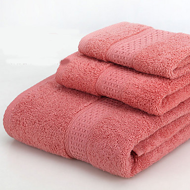 Overlegen kvalitet Vaskehåndklæ, Ensfarget Bomull / Linblandning Baderom 8.0 pcs