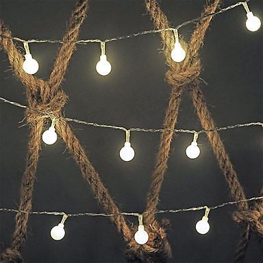 Dongguan pho_0628 vanntett batteriboks 5 meter 50led ballstrengslampe fjernkontroll lysstreng varm hvit