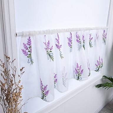 Λουλούδι Ημιεπίπεδο Ένα Πάνελ Κουρτίνα Υπνοδωμάτιο   Curtains