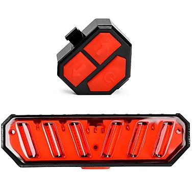Laser Sykkellykter blinklys bar end lys Baklys til sykkel Fjellsykling Sykkel Sykling Vanntett Flere moduser Smart induksjon Verneutstyr Lithium-batteri 100 lm Rød Sykling