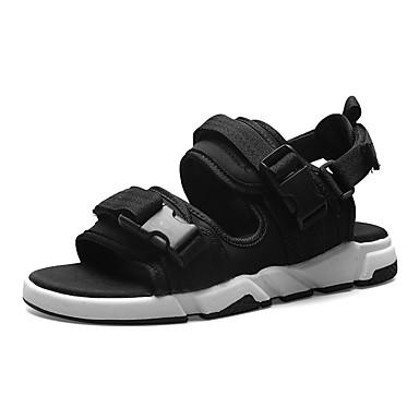 Ανδρικά Παπούτσια άνεσης Δίχτυ / Ελαστικό ύφασμα Καλοκαίρι Καθημερινό Σανδάλια Μη ολίσθηση Μαύρο / Γκρίζο