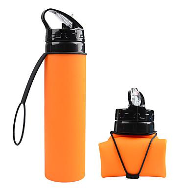 sammenleggbar vannflaske, silikon foldbar med lekkasikkert reisevennlig matkvalitets silikon