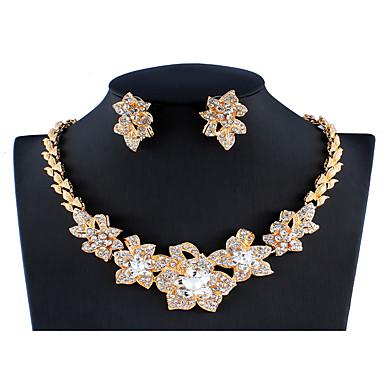 Γυναικεία Λευκό Νυφικό κόσμημα σετ Σύνδεσμος / Αλυσίδα Flower Shape Απλός Πολυτέλεια Μοντέρνο Μοντέρνα Σκουλαρίκια Κοσμήματα Χρυσό Για Χριστούγεννα Γάμου Πάρτι Αρραβώνας 1set