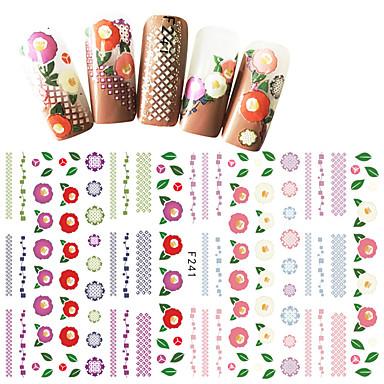 1 pcs Αυτοκόλλητα Σειρά Λουλουδιών / Σειρά κινούμενων σχεδίων τέχνη νυχιών Μανικιούρ Πεντικιούρ Mini Style / Ασφάλεια / Εργονομικός Σχεδιασμός Στυλάτο / Απλός