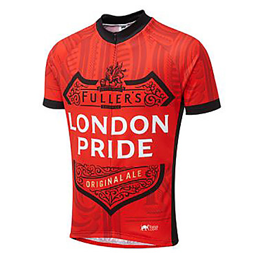 21Grams Λονδίνο Ανδρικά Κοντομάνικο Φανέλα ποδηλασίας - Κόκκινο Ποδήλατο Αθλητική μπλούζα Μπολύζες Αναπνέει Ύγρανση Γρήγορο Στέγνωμα Αθλητισμός Τερυλίνη Ποδηλασία Βουνού Ποδηλασία Δρόμου Ρούχα