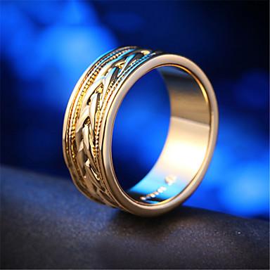 Γυναικεία Δαχτυλίδι 1pc Χρυσό Επιχρυσωμένο Κυκλικό Στυλάτο Καθημερινά Δουλειά Κοσμήματα Κλασσικό Τυχερός Lovely