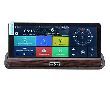 ieftine DVR Mașină-7 inch hd auto dvr gps dublă lentilă de navigare spate camera video recorder sprint 3g wifi
