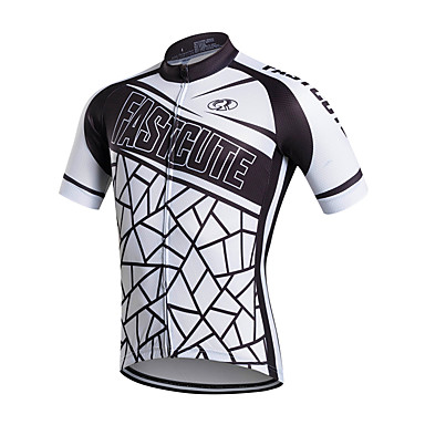 FUALRNY® Ανδρικά Κοντομάνικο Φανέλα ποδηλασίας Πολυεστέρας Ταφτάς Λευκό Ποδήλατο Αθλητική μπλούζα Μπολύζες Ποδηλασία Βουνού Ποδηλασία Δρόμου Αναπνέει Ύγρανση Γρήγορο Στέγνωμα Αθλητισμός Ρούχα