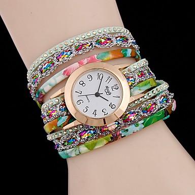 preiswerte Uhren-Damen Uhr Halskettenuhr Quartz Leder Armbanduhren für den Alltag Analog Modisch Schwarz Hellblau Weiß