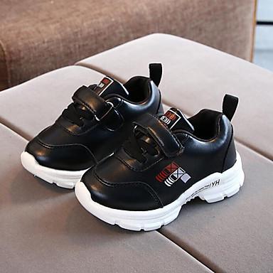 Αγορίστικα Ανατομικό PU Αθλητικά Παπούτσια Τα μικρά παιδιά (4-7ys) Περπάτημα Μαύρο / Λευκό / Ροζ Άνοιξη / Χειμώνας / Καοτσούκ