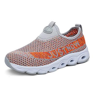 Αγορίστικα Πρώτα Βήματα Flyknit Αθλητικά Παπούτσια Τα μικρά παιδιά (4-7ys) Περπάτημα Μαύρο / Βαθυγάλαζο / Γκρίζο Καλοκαίρι / Καοτσούκ