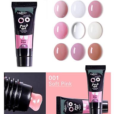 preiswerte Nagellack & Gel Lacke-20g nagel acryl poly gel rosa weiß klar kristall uv led builder gel tipps verbesserung slip lösung schnelle verlängerung gel