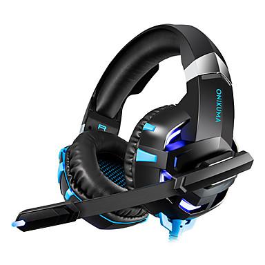 onikuma k2a gaming headset pc gamer bass øretelefoner hodetelefon med mic nintendo switch spill
