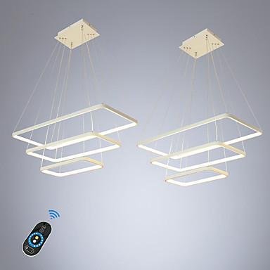 ecolight 2 stk / lot led100w lineær anheng lys omgivende lys til spisesal stue justerbar dimbar 110-120v / 220-240v varm hvit / hvit / wi-fi smart