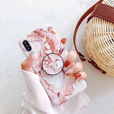 cheap Marble Case-Case For Apple iPhone XR / iPhone XS Max / iPhone X with Stand / Pattern Back Cover Marble Hard Plastic