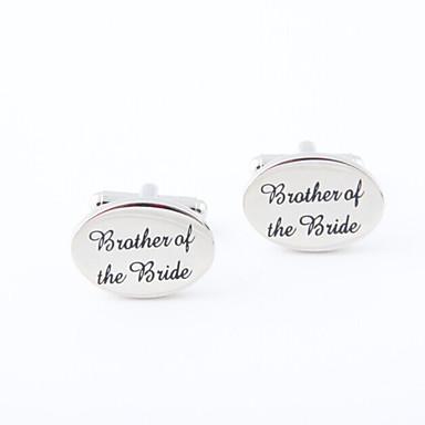 Butoni Alphabet Shape Βίντατζ Καθημερινό Κράμα Καρφίτσα Κοσμήματα Ασημί Για Πάρτι Δώρο
