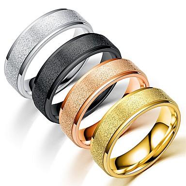 Ανδρικά Γυναικεία Band Ring Δαχτυλίδι Δαχτυλίδι ουράς 1pc Ασημί Ουράνιο Τόξο Χρυσό Τριανταφυλλί Ανοξείδωτο Ατσάλι Τιτάνιο Ατσάλι Κυκλικό Βασικό Μοντέρνα Δώρο Καθημερινά Κοσμήματα Απίθανο