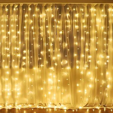 preiswerte LED Lichterketten-3mx2m 240led weißes / warmes weißes / Mehrfarbenlicht romantisches Weihnachtshochzeitsdekorationvorhangschnurlicht im Freien