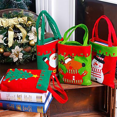 Yiwu pho_076t julepynt barnas gavepose juletre atmosfære dekorasjon trepose julegodter bærbar gavepose eldre gavepose