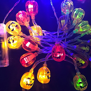 3m φανάρια σειράς κολοκύθας 20 led πολλαπλών χρωμάτων αποκριές συμβαλλόμενο μέρος ευχαριστιών διακοσμητικά 5 σε 1 σύνολο