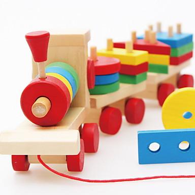 Τουβλάκια αλληλοσύνδεσης Παιχνίδι ταξινόμησης σχήματος Τρένο Ανακουφίζει από ADD, ADHD, Άγχος, Αυτισμό Αλληλεπίδραση γονέα-παιδιού Ουρά Αυτοκίνητο 3 pcs Παιδικά Όλα Παιχνίδια Δώρο