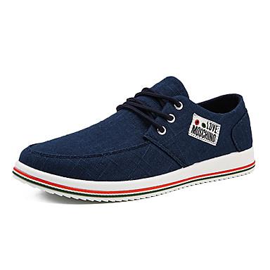 Ανδρικά Παπούτσια άνεσης Πανί Καλοκαίρι Αθλητικά Παπούτσια Περπάτημα Αναπνέει Μπλε / Μπεζ / Γκρίζο / ΕΞΩΤΕΡΙΚΟΥ ΧΩΡΟΥ