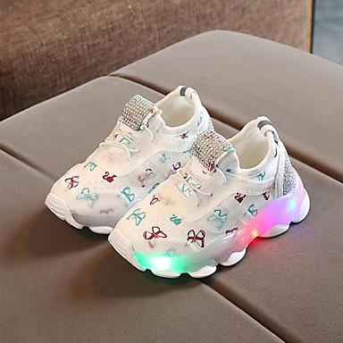 Κοριτσίστικα LED / Ανατομικό / Φωτιζόμενα παπούτσια Δίχτυ Αθλητικά Παπούτσια Τα μικρά παιδιά (4-7ys) Περπάτημα LED Μαύρο / Λευκό / Ροζ Άνοιξη / Καλοκαίρι / Καοτσούκ