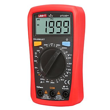 uni-t ut33d digital multimeter automatisk rekkevidde palm størrelse ac dc voltmeter ammeter motstand kapasitans tester