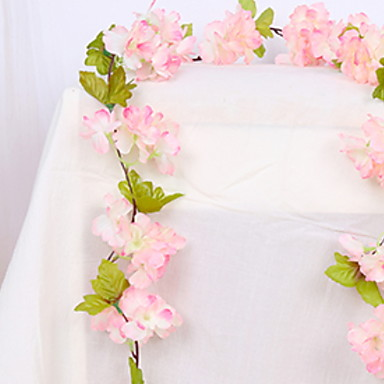 Ψεύτικα λουλούδια 1 Κλαδί Στήριξη στον τοίχο Σύγχρονη Σύγχρονη Άνθος Κερασιάς Λουλούδι Τοίχου