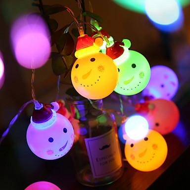 3m kreative søte strengelys 20 leds multi farge jule dekorative 5 v 1 sett