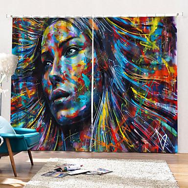 Kunstnerisk Stil Personvern To paneler Gardin Stue   Curtains