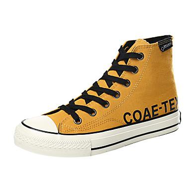 Homens Sapatos Confortáveis Lona Primavera / Outono Esportivo / Casual Tênis Caminhada Preto / Amarelo / Ao ar livre