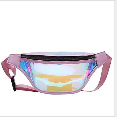 저렴한 Sling Shoulder Bags-여성용 지퍼 PVC 슬링 어깨 가방 푸른 / 블러슁 핑크 / 퍼플