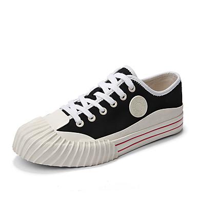Ανδρικά Παπούτσια άνεσης Πανί Φθινόπωρο / Ανοιξη καλοκαίρι Καθημερινό / Κολεγιακό Αθλητικά Παπούτσια Αναπνέει Μαύρο / Λευκό