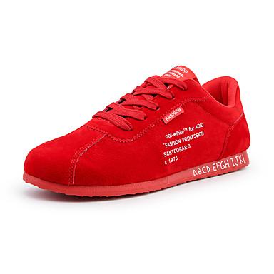 Ανδρικά Φως πέλματα Ελαστικό ύφασμα Ανοιξη καλοκαίρι Αθλητικό Αθλητικά Παπούτσια Αναπνέει Μαύρο / Γκρίζο / Κόκκινο