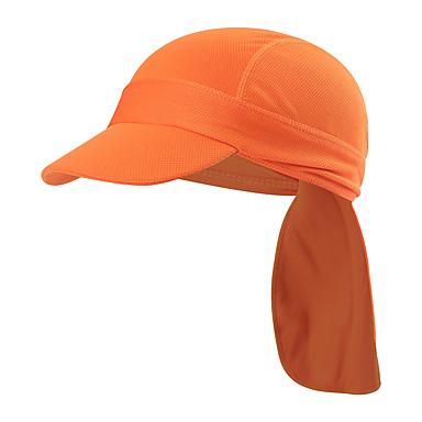 WOSAWE Sykkelhette Cap Pustende Fukt Wicking Fort Tørring UV Beskyttelse Sykkel / Sykling Oransje Grønn Blå til Unisex Voksne Utendørs Trening Løp Sykkel Ensfarget 1 Deler / Fjellsykling