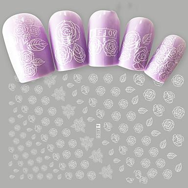 1 pcs Αυτοκόλλητα Σειρά Τοτέμ / Σειρά Λουλουδιών τέχνη νυχιών Μανικιούρ Πεντικιούρ Mini Style / Ασφάλεια / Εργονομικός Σχεδιασμός Στυλάτο / Απλός
