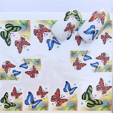 1 pcs Klistremerker Blomster Serier Neglekunst Manikyr pedikyr Mini Stil / Verneutstyr / Ergonomisk Design Stilfull / Mote