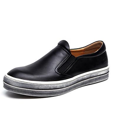 Ανδρικά Δερμάτινα παπούτσια Δέρμα Καλοκαίρι / Ανοιξη καλοκαίρι Κλασσικό / Καθημερινό Μοκασίνια & Ευκολόφορετα Περπάτημα Αναπνέει Μαύρο / Μπλε