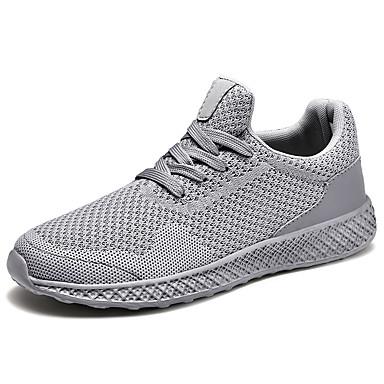 Ανδρικά Παπούτσια άνεσης Φουσκωτό πηνίο Ανοιξη καλοκαίρι Κλασσικό Αθλητικά Παπούτσια Περπάτημα Μη ολίσθηση Μαύρο / Κόκκινο / Γκρίζο