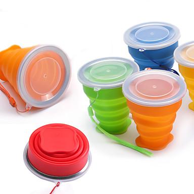 Dongguan pho_07fi silikon sammenleggbar kopp reise bærbar silikon kopp oransje _200ml