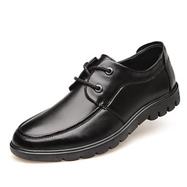 Ανδρικά Παπούτσια άνεσης Δέρμα Άνοιξη / Φθινόπωρο & Χειμώνας Oxfords Μαύρο / Καφέ