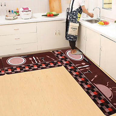 cheap Rugs-Floor Mat Simple Printing Kitchen Carpet House Doormat Anti-Slip Absorbent Rug for Kitchen Living Room