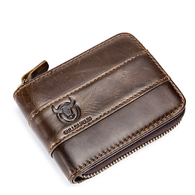 (bullcaptain) casual δέρμα πορτοφόλι ανδρών αλλαγή άδειας οδήγησης πολλαπλών λειτουργιών υποδοχή κάρτας πορτοφόλι διατομή