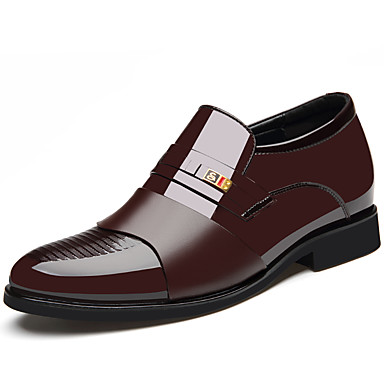 Ανδρικά Παπούτσια άνεσης Νάπα Leather Καλοκαίρι Oxfords Αναπνέει Μαύρο / Καφέ