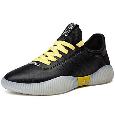 Ανδρικά Παπούτσια άνεσης PU Καλοκαίρι Καθημερινό Αθλητικά Παπούτσια Αναπνέει Λευκό / Μαύρο